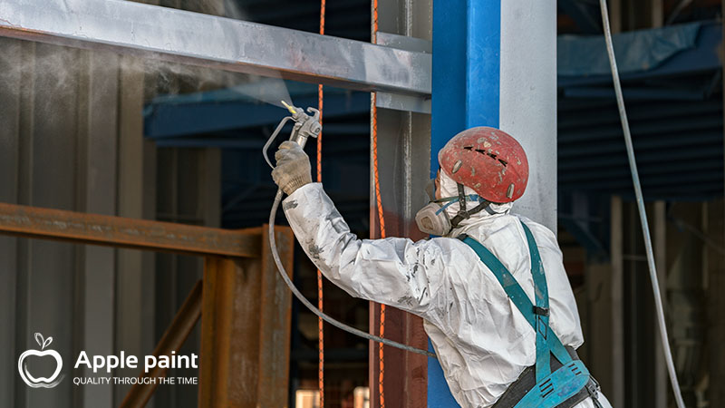 Thi công sơn cao su clo chống ăn mòn Apple Paint cho nhà máy Alumin Tân Rai