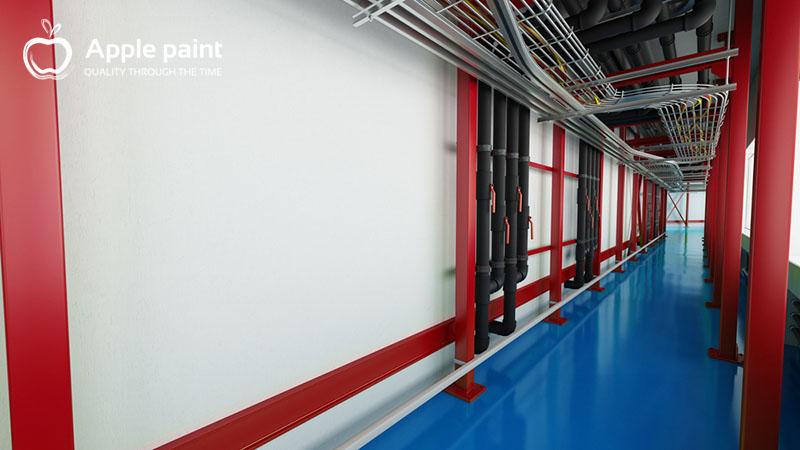 Nội ngoại thất của nhà máy keo Nanpao sử dụng sơn do Apple paint cung cấp với độ bền cao