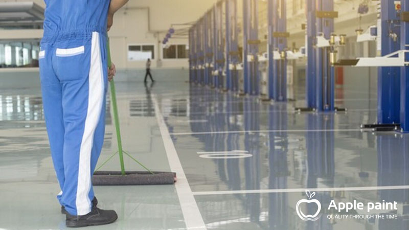 Sơn sàn và kẻ vạch cho nhà máy Dona Victor Molds tại Đồng Nai