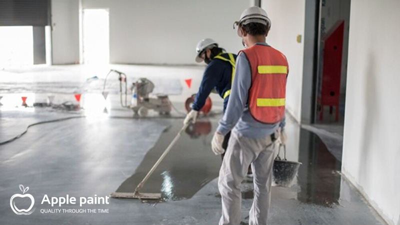 Apple Paint cung cấp và thi công sơn sàn epoxy cho tập đoàn giày da Chí Hùng