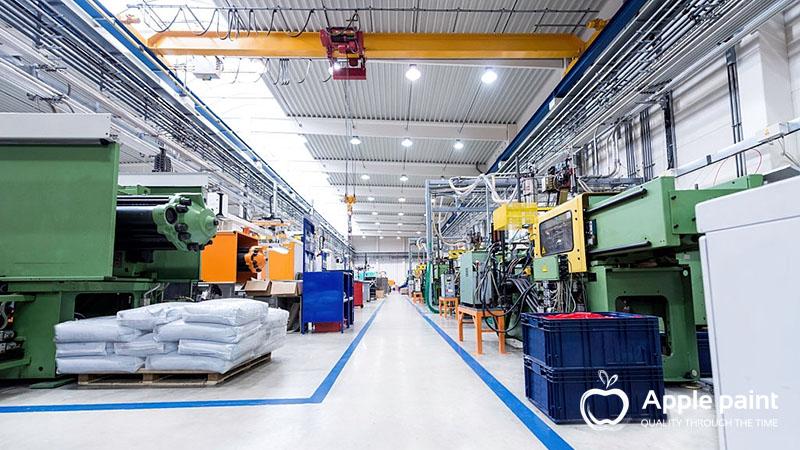 Sơn Epoxy được hầu hết các nhà máy, kho xưởng sử dụng